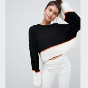 Missguided colour block oversized jumper Sweater